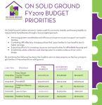OSG Budget priority FY19