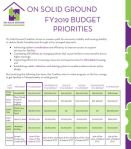 Conference Budget FY19
